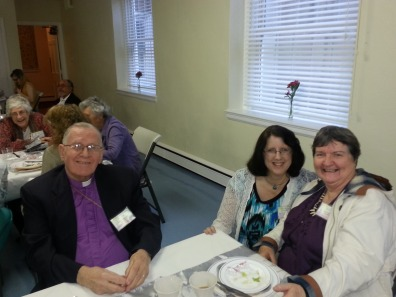 Bp. Booth, Saralee Czajkowski and Judy King