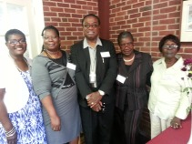 First time attendees Rev. Belgrave Pell and the ladies of St. Mary's REC