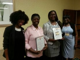 First time conference attendees-Kara Thompson, PA; Ernestine Porter, SC; and Rhona and Estella Thomas, NY (2)