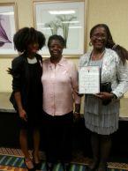 Kara Thompson, Ernestine Porter, and Rhona Thomas