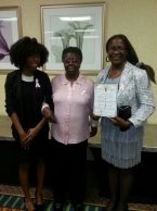 Kara Thompson, Ernestine Porter, and Rhona Thomas