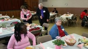 Seated - Geraldine McDaniel, Calvary REC, SC and Marian Ricardo, Grace REC, Collingdale, PA