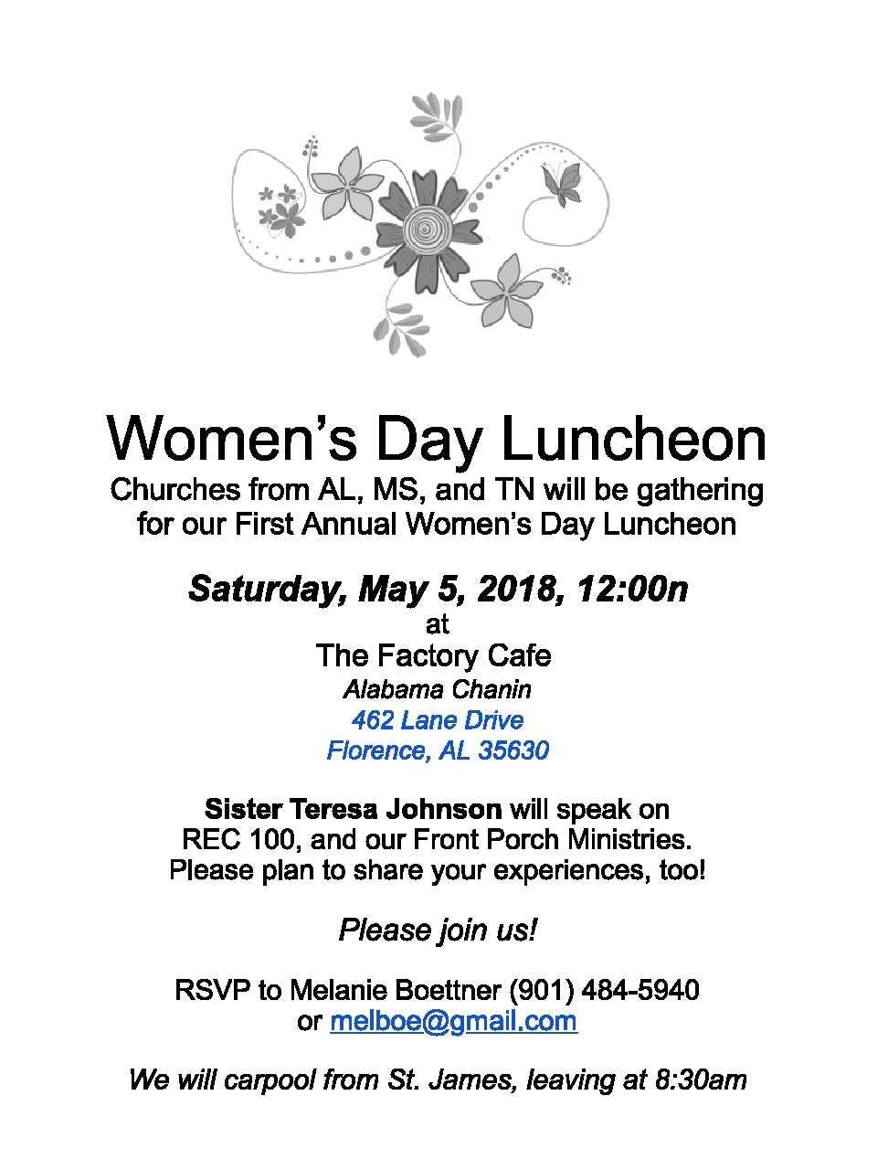 Womens Luncheon 2018